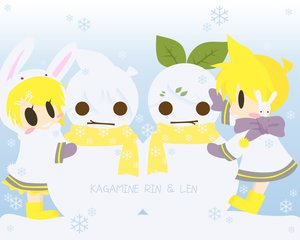 Rating: Safe Score: 7 Tags: kagamine_len kagamine_rin vocaloid User: HawthorneKitty