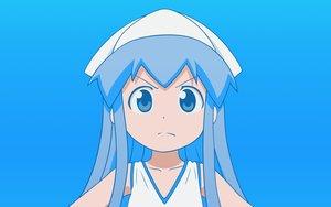 Rating: Safe Score: 58 Tags: blue blue_eyes blue_hair hat ikamusume loli long_hair shinryaku!_ikamusume vector User: MisakaImouto
