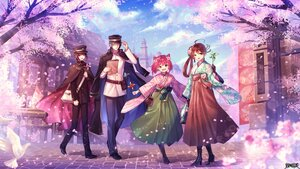 Rating: Safe Score: 14 Tags: animal bird black_hair blue_hair blush brown_hair flowers glasses green_eyes hat hi-na1 jaeger_sixth japanese_clothes kimono long_hair male petals pink_eyes pink_hair red_eyes shorts tree uniform yellow_eyes User: Maboroshi