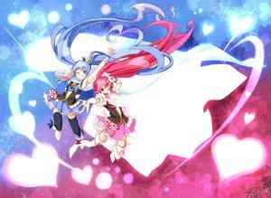 Rating: Safe Score: 44 Tags: 2girls blue_hair long_hair pink_hair precure tagme_(character) ushiki_yoshitaka User: Wiresetc