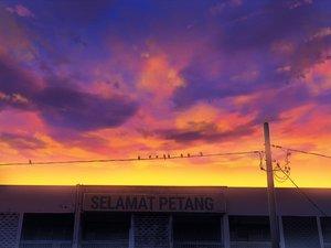 Rating: Safe Score: 9 Tags: animal bird building clouds mclelun original sky sunset User: RyuZU