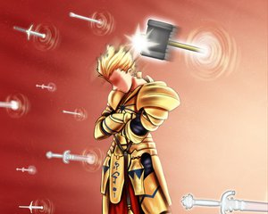 Rating: Safe Score: 49 Tags: all_male armor blonde_hair fate_(series) fate/stay_night gilgamesh male short_hair sword tk8d32 weapon User: PAIIS