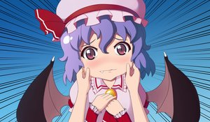 Rating: Safe Score: 43 Tags: close erwnoid fang hat remilia_scarlet short_hair touhou vampire wings User: gnarf1975