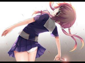 Rating: Safe Score: 104 Tags: blood gasai_yuno jpeg_artifacts knife liong long_hair mirai_nikki panties pink_hair school_uniform underwear weapon User: Katsumi