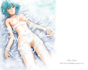 Rating: Explicit Score: 330 Tags: ayanami_rei bandage breasts navel neon_genesis_evangelion nipples nude pubic_hair pussy uncensored User: Oyashiro-sama