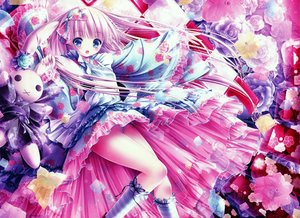 Rating: Safe Score: 175 Tags: blue_eyes bunny flowers japanese_clothes loli lolita_fashion long_hair panties pink_hair rose see_through tinkle underwear User: gnarf1975