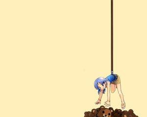 Rating: Safe Score: 19 Tags: 2ch animal blue_hair pedobear teddy_bear yellow User: Oyashiro-sama