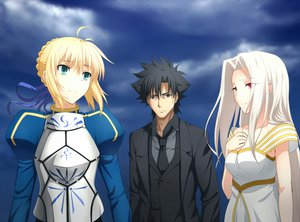 Rating: Safe Score: 84 Tags: aqua_eyes armor artoria_pendragon_(all) black_eyes black_hair blonde_hair clouds dress emiya_kiritsugu fate_(series) fate/stay_night fate/zero irisviel_von_einzbern long_hair male red_eyes saber short_hair sky User: Maboroshi