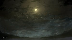 Rating: Safe Score: 65 Tags: alpcmas clouds grass moon night nobody original scenic signed sky stars User: otaku_emmy