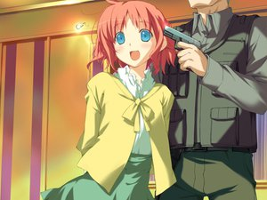 Rating: Safe Score: 4 Tags: amagahara_inaho favorite game_cg gun happy_margaret! kokonoka weapon User: 秀悟