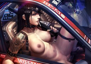 Rating: Explicit Score: 173 Tags: black_hair breasts car cigarette collar derrick_chew eyepatch gun hat long_hair navel nipples nude original police pussy third-party_edit uncensored weapon User: BattlequeenYume