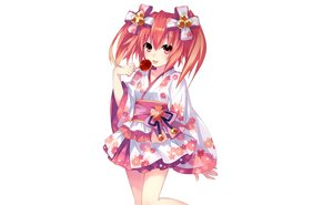 Rating: Safe Score: 56 Tags: alyn_(fairy_fencer_f) apple candy fairy_fencer_f food fruit japanese_clothes photoshop red_eyes red_hair tsunako twintails white yukata User: luckyluna