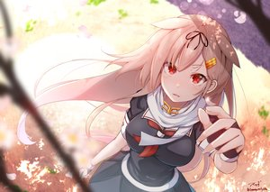 Rating: Safe Score: 61 Tags: anthropomorphism baileys_(tranquillity650) blonde_hair gloves kantai_collection long_hair red_eyes scarf signed skirt yuudachi_(kancolle) User: BattlequeenYume