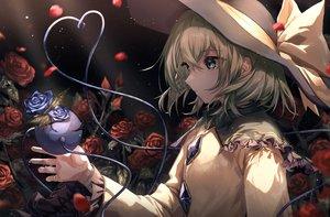 Rating: Safe Score: 37 Tags: bow flowers green_eyes green_hair hat komeiji_koishi leaves mozuno_(mozya_7) rose tears touhou User: mattiasc02