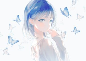 Rating: Safe Score: 72 Tags: blue_eyes blue_hair butterfly close gomzi original polychromatic short_hair signed User: FormX