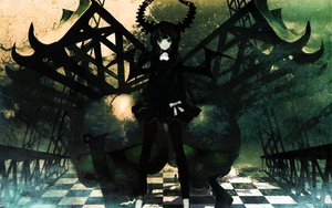 Rating: Safe Score: 53 Tags: black_hair black_rock_shooter green_eyes horns huke long_hair skull takanashi_yomi User: celebi