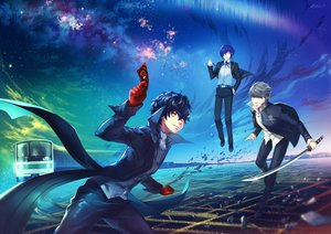 Rating: Safe Score: 33 Tags: 1991_(blz) all_male aqua_eyes arisato_minato black_hair blue_hair building city clouds gloves gray_eyes gray_hair katana kurusu_akira male narukami_yuu necklace night persona persona_3 persona_4 persona_5 short_hair sky stars suit sword train weapon yellow_eyes User: RyuZU