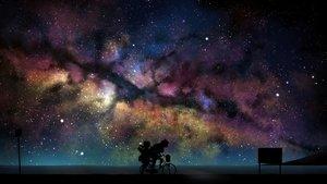 Rating: Safe Score: 54 Tags: 2girls nichesnake night polychromatic scenic silhouette stars tsurumaki_maki vocaloid voiceroid yuzuki_yukari User: mattiasc02