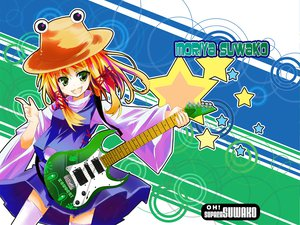 Rating: Safe Score: 7 Tags: gochou_(comedia80) guitar instrument moriya_suwako touhou User: 秀悟