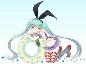 Rating: Safe Score: 35 Tags: ayumi_(xiwu) cosplay hatsune_miku kantai_collection swim_ring vocaloid User: FormX