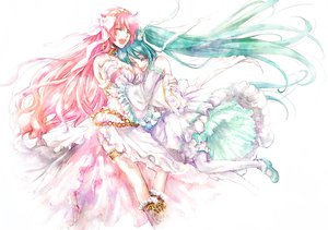 Rating: Safe Score: 43 Tags: hai_yoru hatsune_miku megurine_luka vocaloid User: Zloan