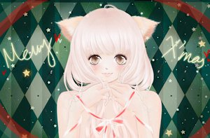 Rating: Safe Score: 19 Tags: animal_ears blush christmas close nude original ribbons white_hair User: HawthorneKitty