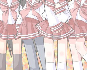 Rating: Safe Score: 5 Tags: iwasaki_minami kobayakawa_yutaka lucky_star patricia_martin school_uniform tamura_hiyori User: Oyashiro-sama