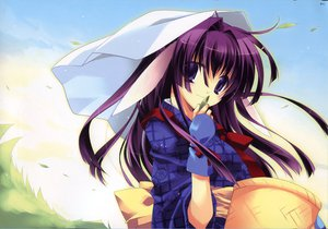 Rating: Safe Score: 6 Tags: animal_ears bunny_ears bunnygirl minazuki_haruka purple_eyes purple_hair tagme User: Oyashiro-sama