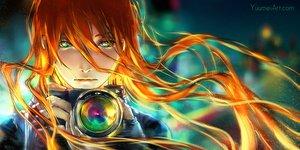 Rating: Safe Score: 78 Tags: camera close long_hair orange_hair original polychromatic watermark wenqing_yan User: mattiasc02