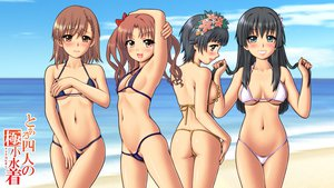 Rating: Questionable Score: 205 Tags: beach bikini black_hair brown_eyes brown_hair erect_nipples green_eyes kimuti-g long_hair misaka_mikoto navel saten_ruiko shirai_kuroko short_hair swimsuit to_aru_kagaku_no_railgun to_aru_majutsu_no_index twintails uiharu_kazari User: opai