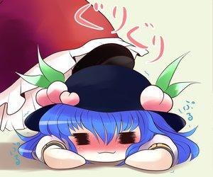 Rating: Safe Score: 25 Tags: 2girls blue_hair blush food fruit hat hinanawi_tenshi kazami_yuuka touhou yume_shokunin User: PAIIS
