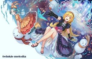 Rating: Safe Score: 66 Tags: 2girls dress gloves monogatari_(series) ononoki_yotsugi oshino_shinobu rakuhei snow snowman tsukimonogatari vampire User: FormX