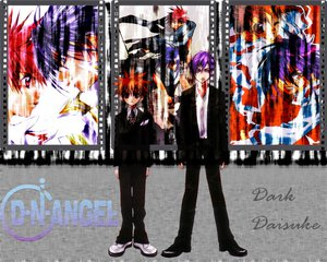 Rating: Safe Score: 11 Tags: dark_mousy dnangel male niwa_daisuke purple_hair red_eyes red_hair sugisaki_yukiru tie User: Oyashiro-sama