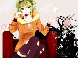 Rating: Safe Score: 78 Tags: goggles gumi hachimitsu_honey thighhighs vocaloid User: MissBMoon