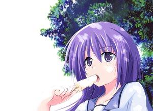 Rating: Safe Score: 48 Tags: angel_beats! food ice_cream irie_miyuki long_hair purple_hair User: HawthorneKitty