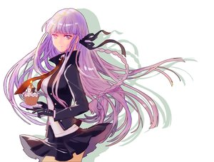 Rating: Safe Score: 69 Tags: braids cake dangan-ronpa food gloves kirigiri_kyouko long_hair monokuma purple_eyes purple_hair ribbons skirt teddy_yang tie User: FormX