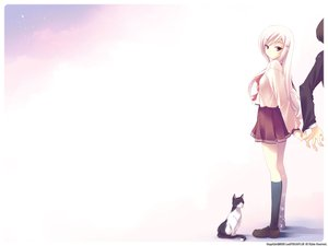 Rating: Safe Score: 12 Tags: animal aquaplus cat leaf lucy_maria_misora to_heart to_heart_2 User: Oyashiro-sama