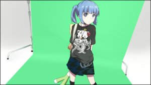 Rating: Safe Score: 17 Tags: blue_eyes blue_hair chain green kneehighs loli necklace original servachok short_hair skirt twintails User: RyuZU