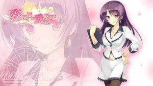Rating: Safe Score: 68 Tags: blush breasts cleavage fujita_konomi game_cg hearts_(company) koi_saku_miyako_ni_ai_no_yakusoku_wo_~annaffiare~ logo long_hair natsume_eri necklace pantyhose pink_eyes purple_hair thighhighs zoom_layer User: C4R10Z123GT