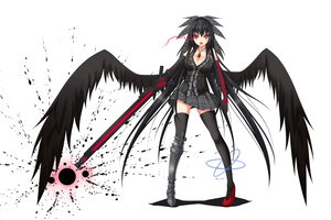 Rating: Safe Score: 265 Tags: armor bicolored_eyes black_hair bow breasts cleavage gmot gun long_hair necklace orange_eyes red_eyes reiuji_utsuho skirt thighhighs touhou weapon wings zettai_ryouiki User: ガラス