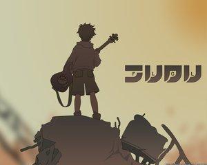 Rating: Safe Score: 0 Tags: flcl guitar instrument nandaba_naota User: Oyashiro-sama