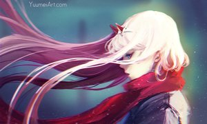 Rating: Safe Score: 66 Tags: blue_eyes darling_in_the_franxx horns long_hair pink_hair scarf watermark wenqing_yan_(yuumei_art) zero_two User: SciFi