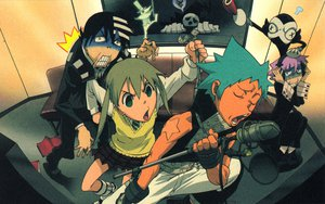 Rating: Safe Score: 82 Tags: black_star chrona death_the_kid excalibur maka_albarn ragnarok shinigami soul_eater User: Zloan