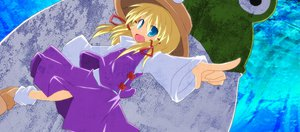 Rating: Safe Score: 8 Tags: animal blonde_hair blue_eyes frog hat moriya_suwako ribbons skirt touhou User: w7382001
