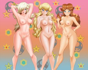 Rating: Explicit Score: 190 Tags: aqua_eyes blonde_hair blue_eyes blush breasts junou navel nintendo nipples nude orange_hair princess_daisy princess_peach pubic_hair pussy rosalina super_mario uncensored white_hair User: mattiasc02