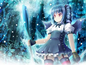 Rating: Safe Score: 54 Tags: akashio dress flowers gloves kooh pangya tagme thighhighs weapon wings User: opai