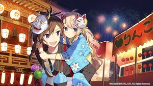Rating: Safe Score: 43 Tags: aliasing blonde_hair blue_eyes festival fireworks japanese_clothes kaku-san-sei_million_arthur long_hair male mask misoni_comi square_enix yukata User: BattlequeenYume
