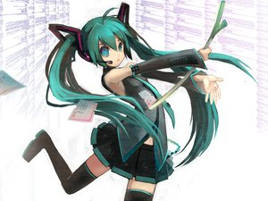 Rating: Safe Score: 44 Tags: hatsune_miku leek vocaloid User: 秀悟