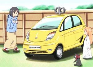 Rating: Safe Score: 27 Tags: animal black_hair blush car cat diesel-turbo hakase_(nichijou) long_hair nichijou sakamoto_(nichijou) scarf shinonome_nano short_hair User: PAIIS