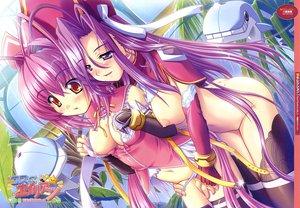 Rating: Explicit Score: 95 Tags: 2girls breasts nipples nude purple_eyes purple_hair red_eyes thighhighs yuri User: 秀悟
